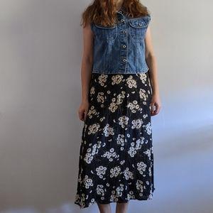 Vintage Daisy Midi Skirt